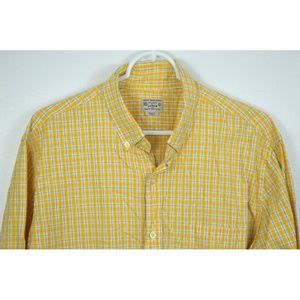 J CREW Large Plaid Cotton Long Sleeve Shirt Button